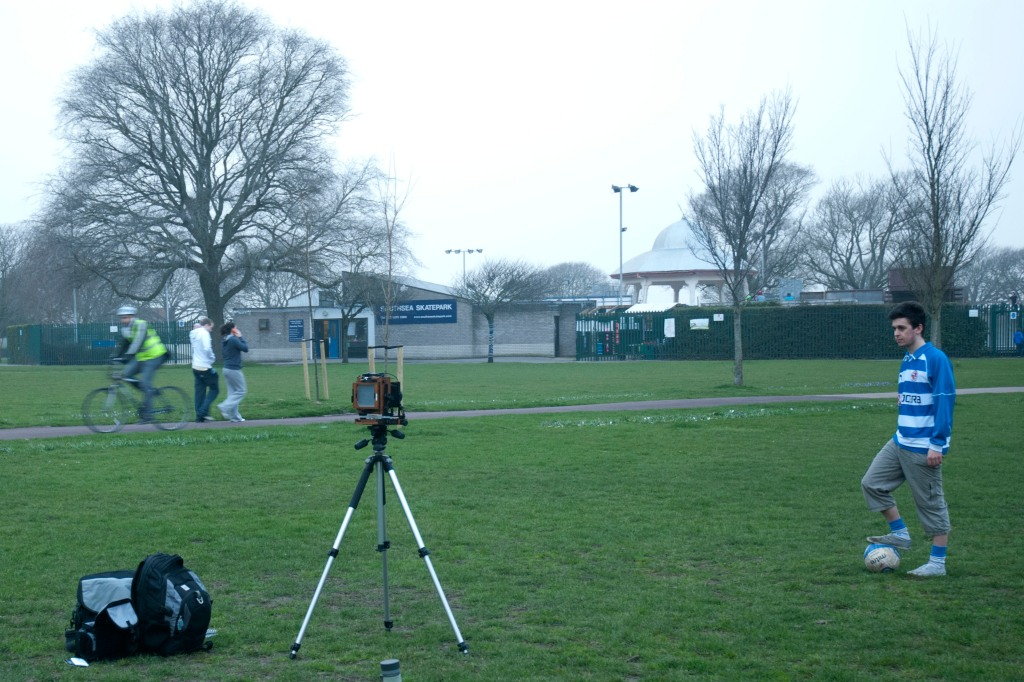 Robin Hinton Set Up Photo in Southsea Common