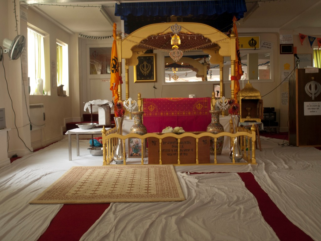 Photography by Heather Dalton of Sikh Temple in Portsmouth, England.