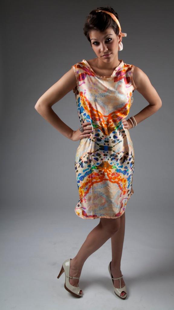 Awkward Model Pose in Dress. Copyright Heather Dalton 2012.