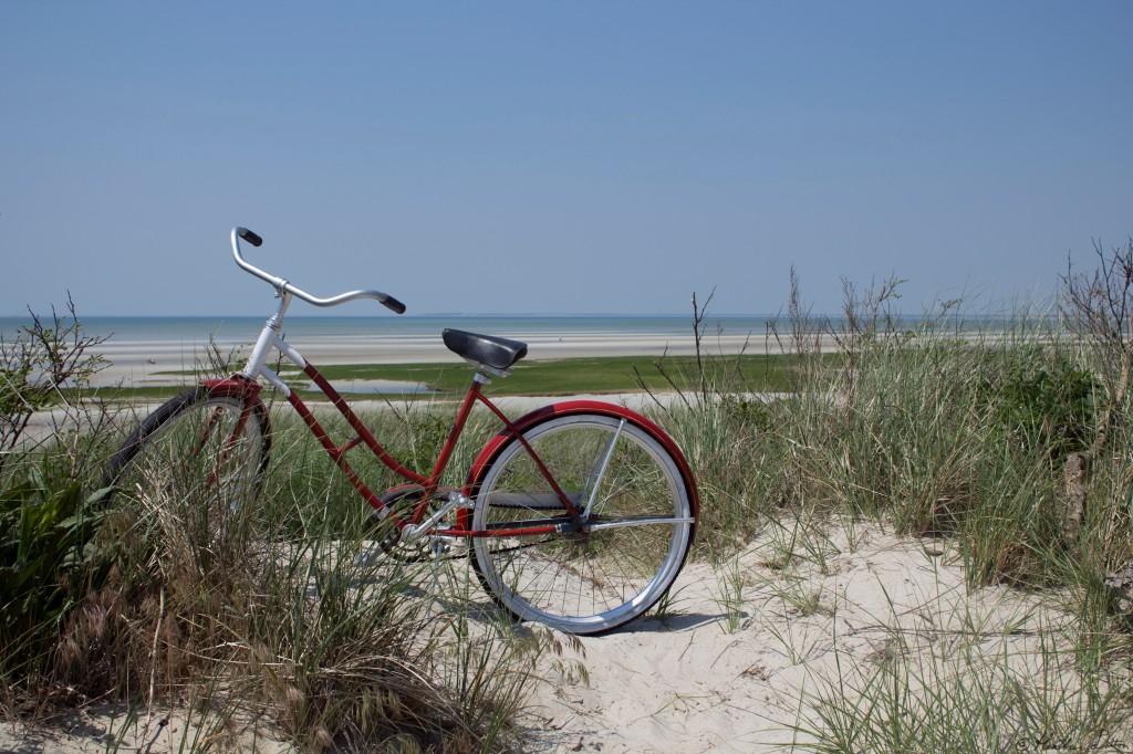 Photograph bike at Skaket Beach