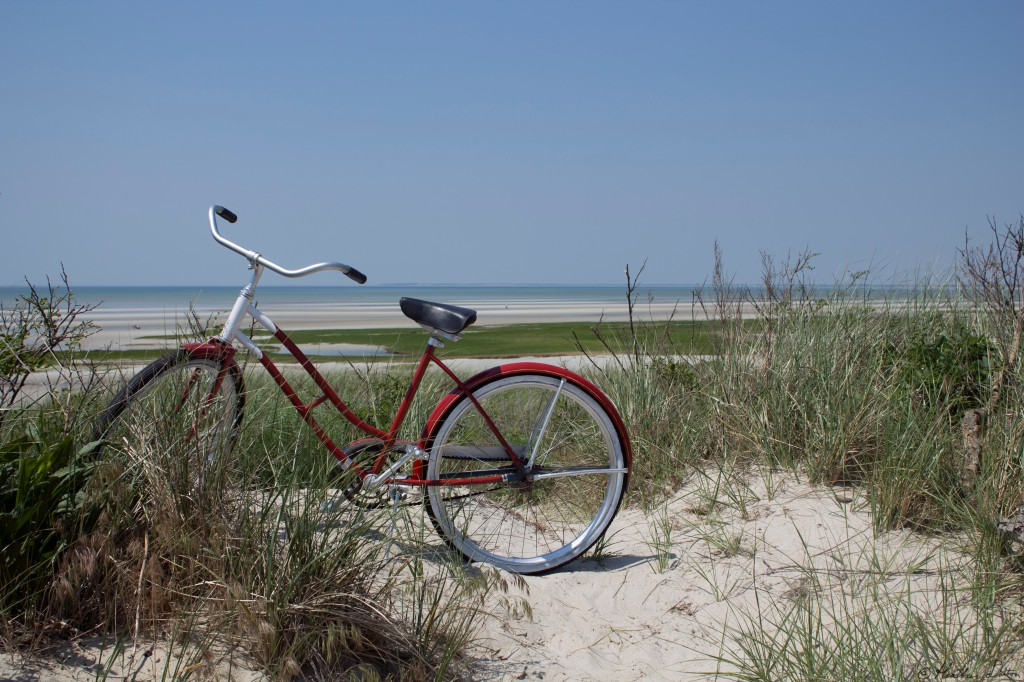 Photograph bike at Skaket Beach