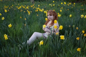 Portrait in Dafodil Field Brewster, MA