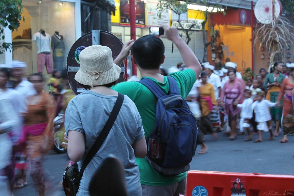 Photograph of tourists Ubud Bali