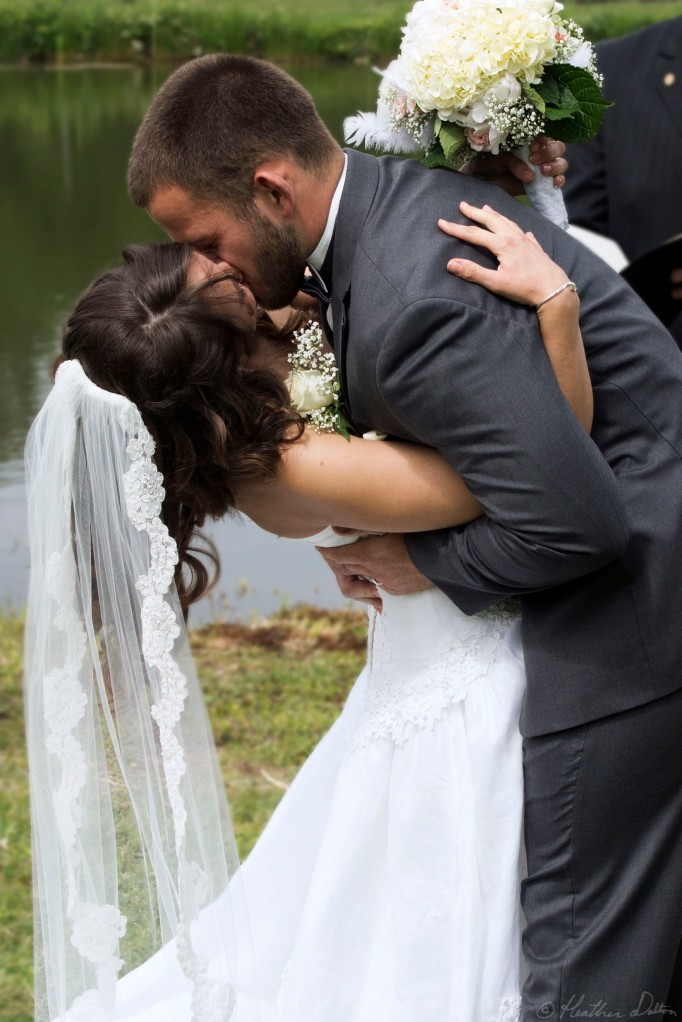 Romantic Wedding Kiss photograph