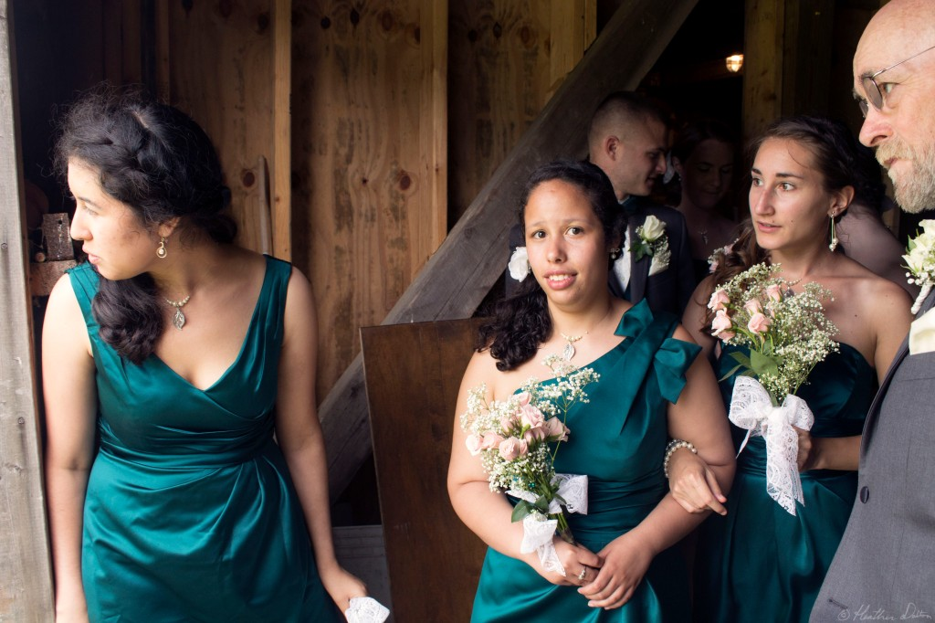 journalistic wedding photograph bridesmaids