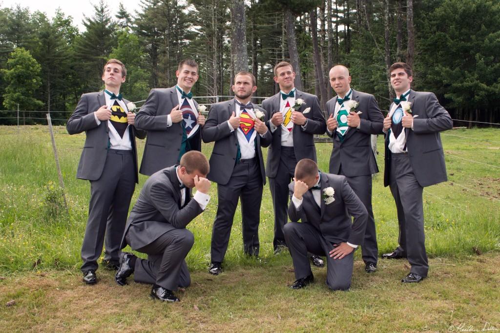 Funny  Superhero Groomsmen Photograph