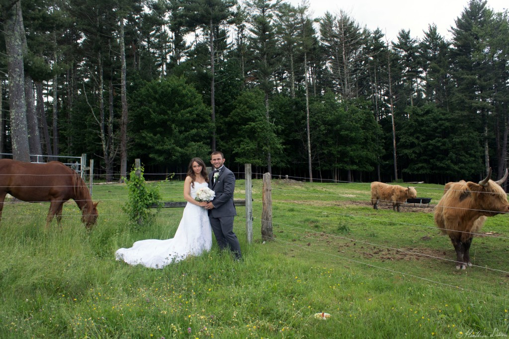 Farm Wedding Bride and Groom Photograph