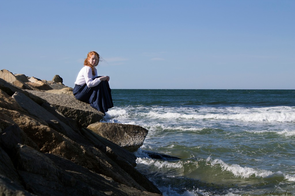 Woman at Ocean soul searching photograph