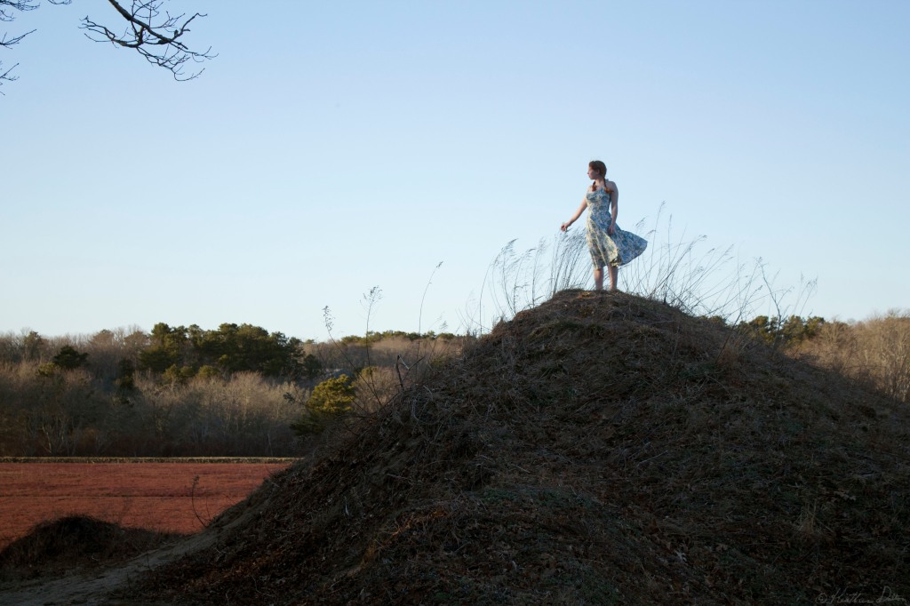 Mary standing on Hilltop