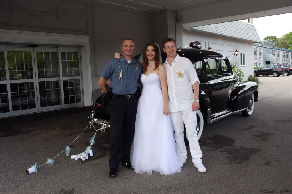 bride groom and driver